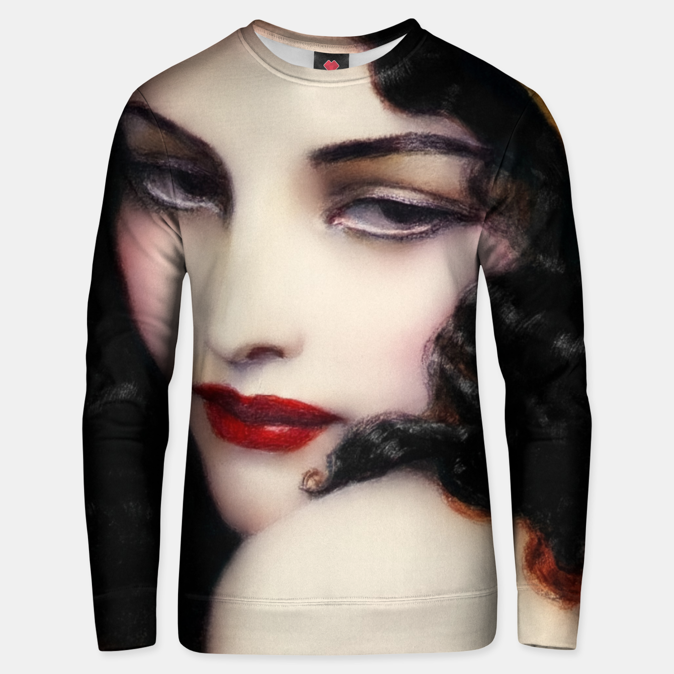 Image de Gypsy by Wladyslaw Theodor Benda Classical Art Xzendor7 Old Masters Reproductions Unisex sweater - Live Heroes