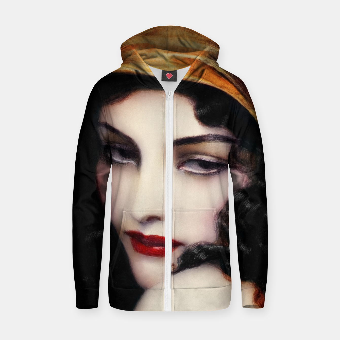 Image de Gypsy by Wladyslaw Theodor Benda Classical Art Xzendor7 Old Masters Reproductions Zip up hoodie - Live Heroes