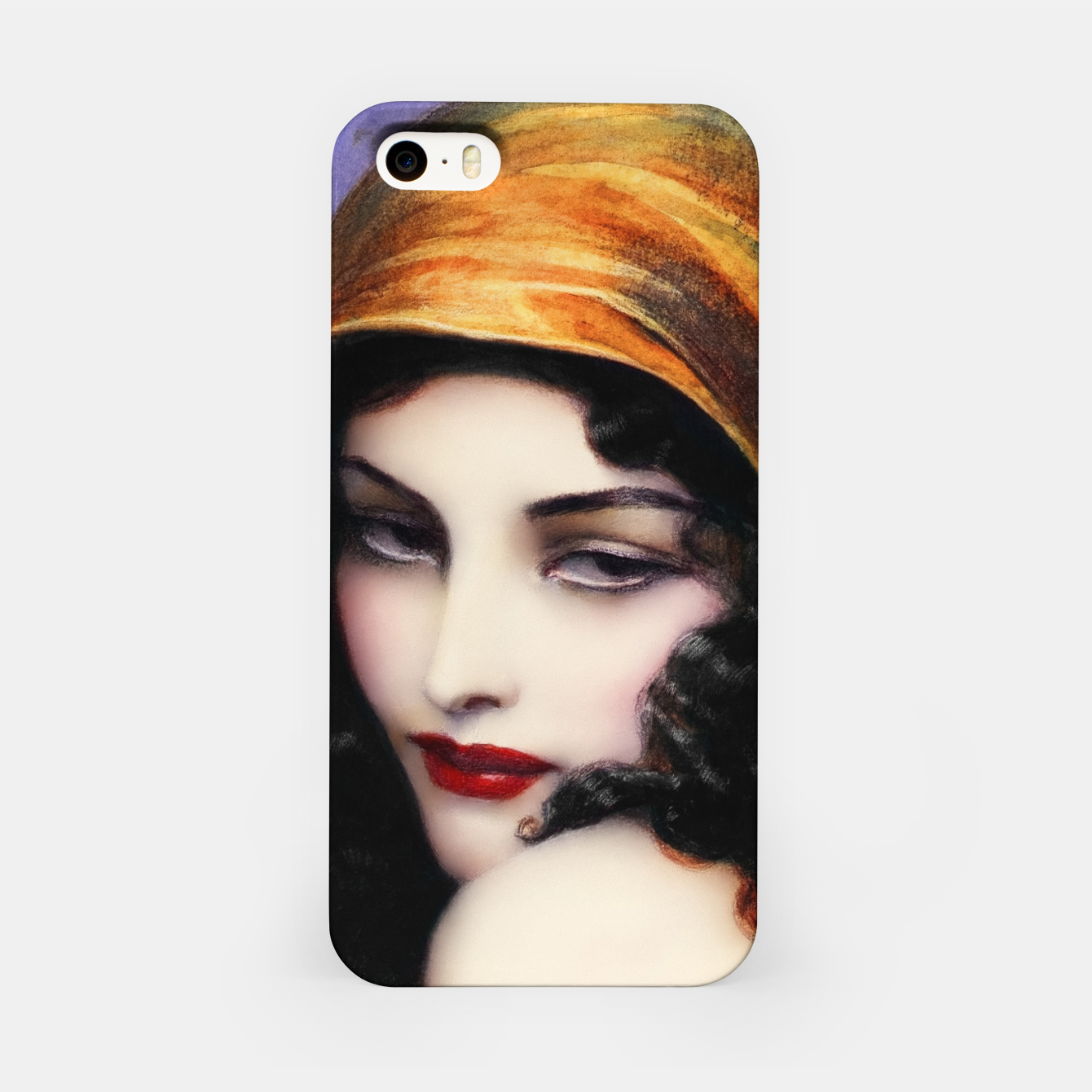 Image of Gypsy by Wladyslaw Theodor Benda Classical Art Xzendor7 Old Masters Reproductions iPhone Case - Live Heroes