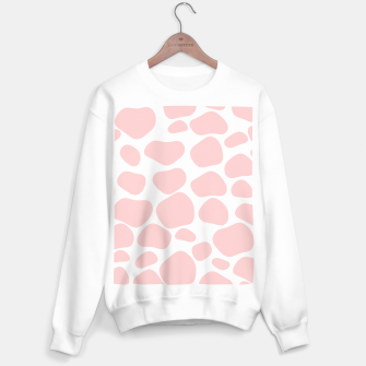 Thumbnail image of Cow spots in soft flamingo pink color, baby animal print Sweater regular, Live Heroes