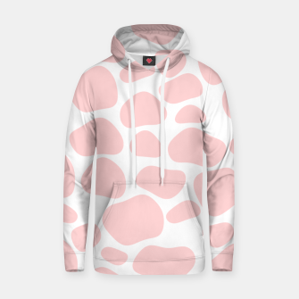Thumbnail image of Cow spots in soft flamingo pink color, baby animal print Hoodie, Live Heroes
