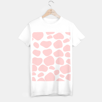 Thumbnail image of Cow spots in soft flamingo pink color, baby animal print T-shirt regular, Live Heroes