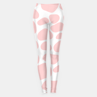 Miniaturka Cow spots in soft flamingo pink color, baby animal print Leggings, Live Heroes