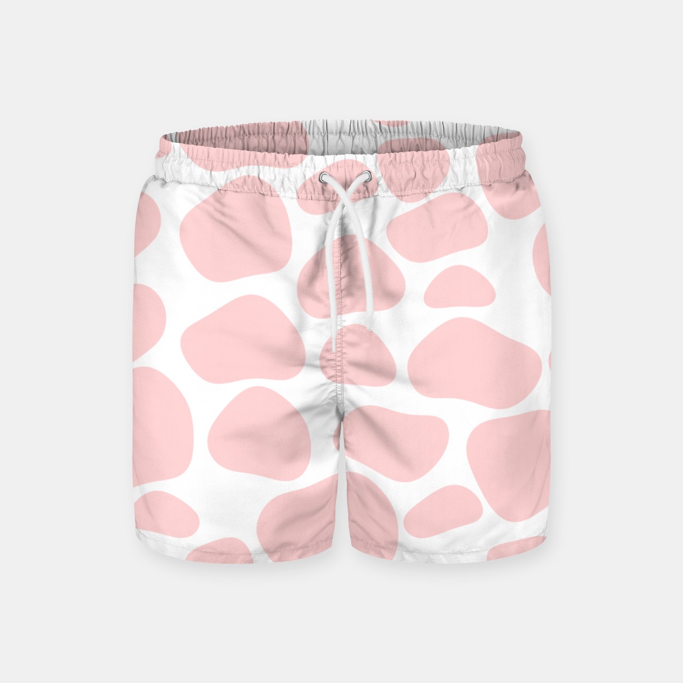 Foto Cow spots in soft flamingo pink color, baby animal print Swim Shorts - Live Heroes
