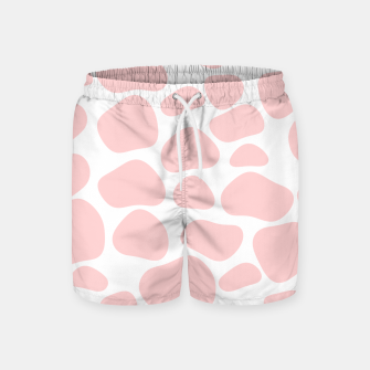 Thumbnail image of Cow spots in soft flamingo pink color, baby animal print Swim Shorts, Live Heroes