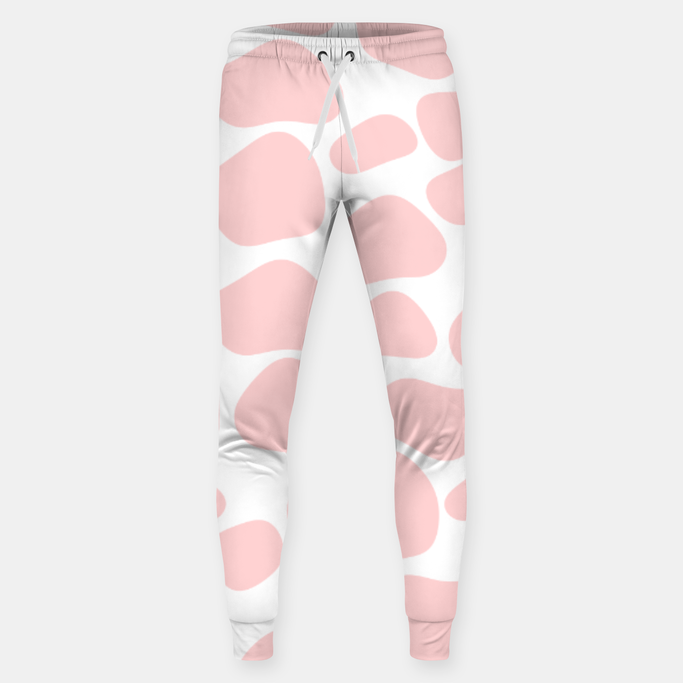 Foto Cow spots in soft flamingo pink color, baby animal print Sweatpants - Live Heroes