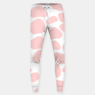 Thumbnail image of Cow spots in soft flamingo pink color, baby animal print Sweatpants, Live Heroes