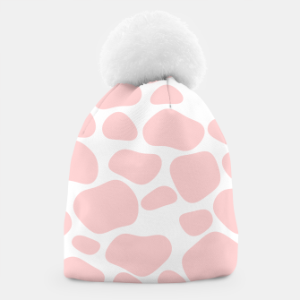 Thumbnail image of Cow spots in soft flamingo pink color, baby animal print Beanie, Live Heroes