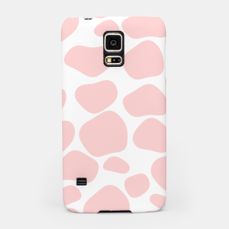 Thumbnail image of Cow spots in soft flamingo pink color, baby animal print Samsung Case, Live Heroes