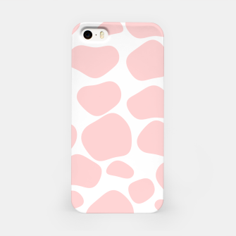 Thumbnail image of Cow spots in soft flamingo pink color, baby animal print iPhone Case, Live Heroes