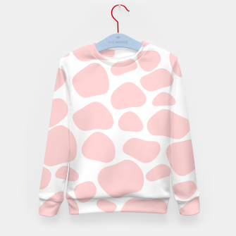 Thumbnail image of Cow spots in soft flamingo pink color, baby animal print Kid's sweater, Live Heroes