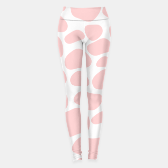 Thumbnail image of Cow spots in soft flamingo pink color, baby animal print Leggings, Live Heroes