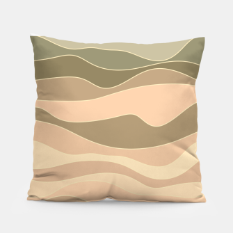 Thumbnail image of Desert hills, silhouettes of deserted rounded sand dunes Pillow, Live Heroes
