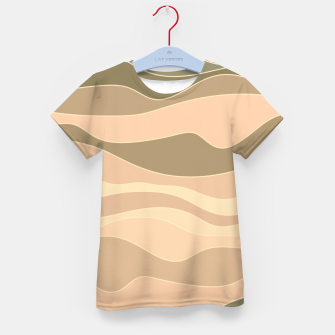 Thumbnail image of Desert hills, silhouettes of deserted rounded sand dunes Kid's t-shirt, Live Heroes