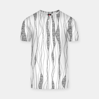 Miniaturka Black and white wavy art lines with nautical elements T-shirt, Live Heroes
