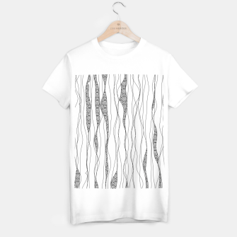 Thumbnail image of Black and white wavy art lines with nautical elements T-shirt regular, Live Heroes