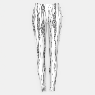 Miniaturka Black and white wavy art lines with nautical elements Leggings, Live Heroes
