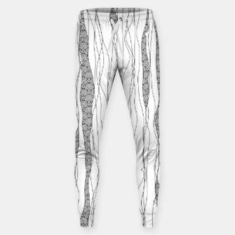 Miniatur Black and white wavy art lines with nautical elements Sweatpants, Live Heroes
