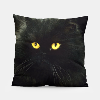 Thumbnail image of Black Cat Pillow, Live Heroes