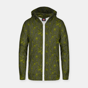 Thumbnail image of Blossoming veins of the green neon world  Zip up hoodie, Live Heroes