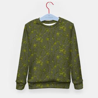Thumbnail image of Blossoming veins of the green neon world  Kid's sweater, Live Heroes