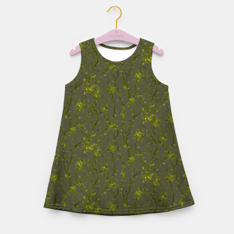 Thumbnail image of Blossoming veins of the green neon world  Girl's summer dress, Live Heroes
