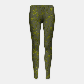 Thumbnail image of Blossoming veins of the green neon world  Girl's leggings, Live Heroes