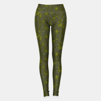 Thumbnail image of Blossoming veins of the green neon world  Leggings, Live Heroes