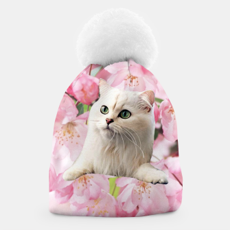 Thumbnail image of Cat and Flowers Beanie, Live Heroes