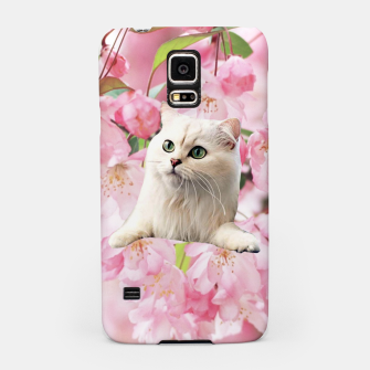 Thumbnail image of Cat and Flowers Samsung Case, Live Heroes