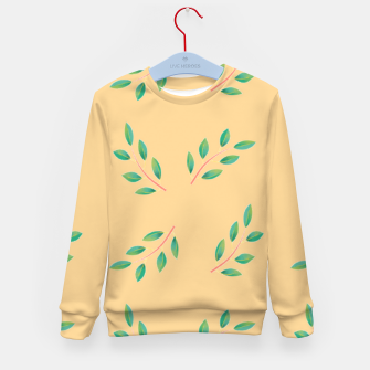 Thumbnail image of Olive leaves  Kid's sweater, Live Heroes