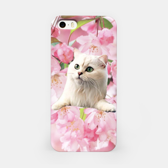 Thumbnail image of Cat and Flowers iPhone Case, Live Heroes