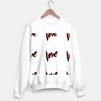 Thumbnail image of Love text white Sweater regular, Live Heroes