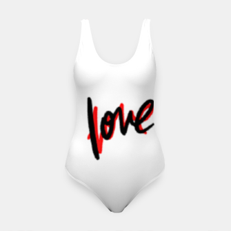 Thumbnail image of Love text white Swimsuit, Live Heroes