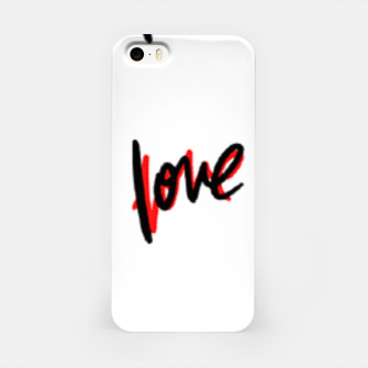 Thumbnail image of Love text white iPhone Case, Live Heroes