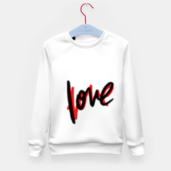 Thumbnail image of Love text white Kid's sweater, Live Heroes
