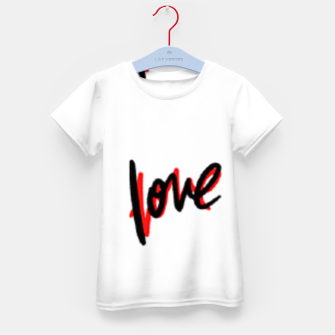 Thumbnail image of Love text white Kid's t-shirt, Live Heroes