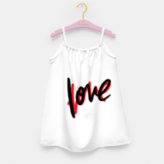 Thumbnail image of Love text white Girl's dress, Live Heroes