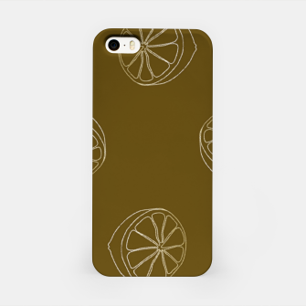 Thumbnail image of Brown lemon slices iPhone Case, Live Heroes