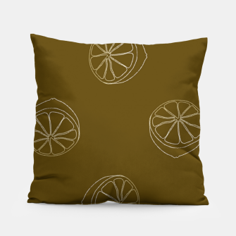 Thumbnail image of Brown lemon slices Pillow, Live Heroes