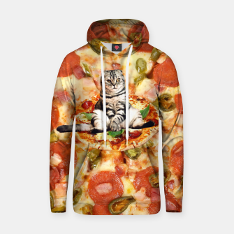 Miniatur Cat and Pizza Hoodie, Live Heroes