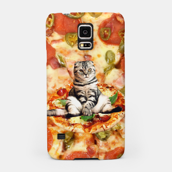 Miniaturka Cat and Pizza Samsung Case, Live Heroes