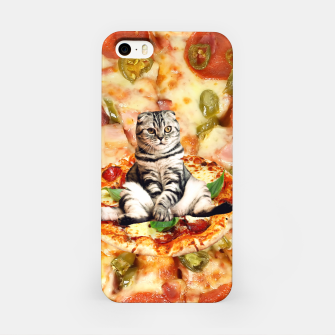 Thumbnail image of Cat and Pizza iPhone Case, Live Heroes