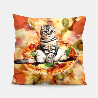 Thumbnail image of Cat and Pizza Pillow, Live Heroes