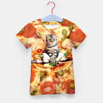 Thumbnail image of Cat and Pizza Kid's t-shirt, Live Heroes