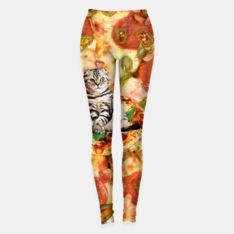 Thumbnail image of Cat and Pizza Leggings, Live Heroes