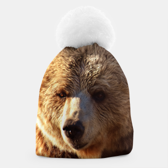 Thumbnail image of Brown Bear Beanie, Live Heroes