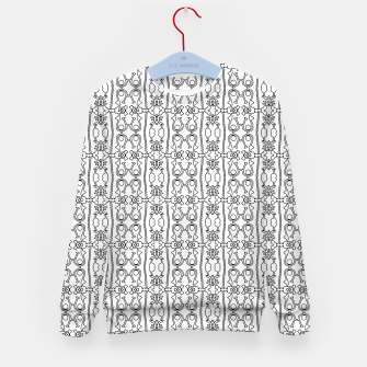 Thumbnail image of Modern Tribal Black and White Ornate Stripes Kid's sweater, Live Heroes
