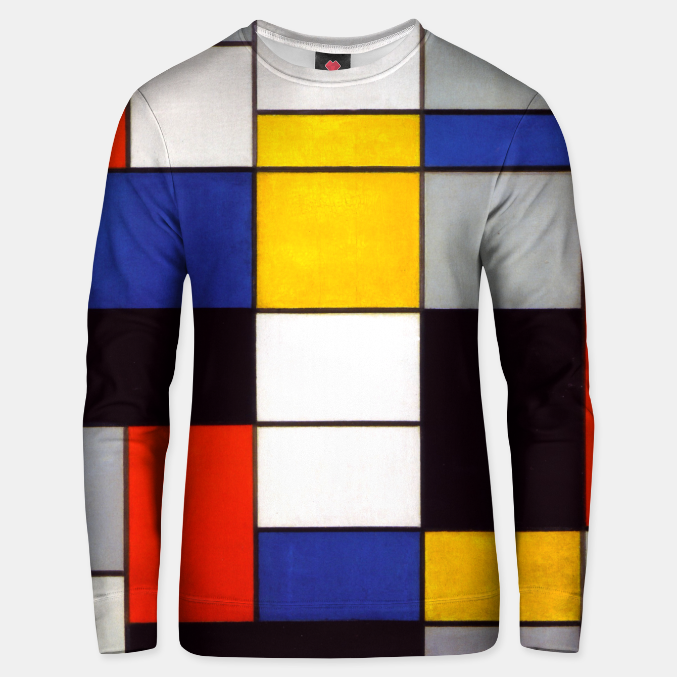 Image of Composition A by Piet Mondrian Unisex sweater - Live Heroes