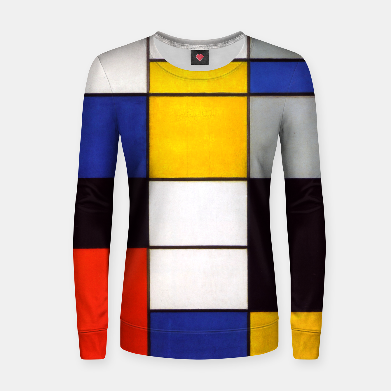 Image of Composition A by Piet Mondrian Women sweater - Live Heroes